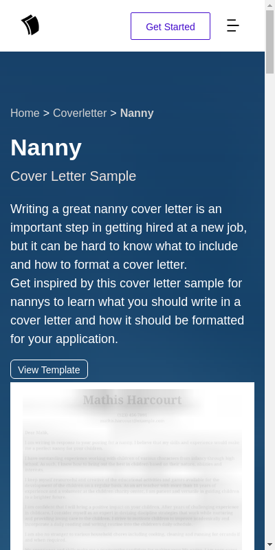 Nanny Cover Letter Example 20 Guides Examples