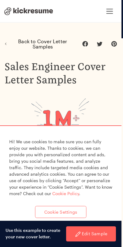 Sales Engineer Cover Letter 20 Guides Examples