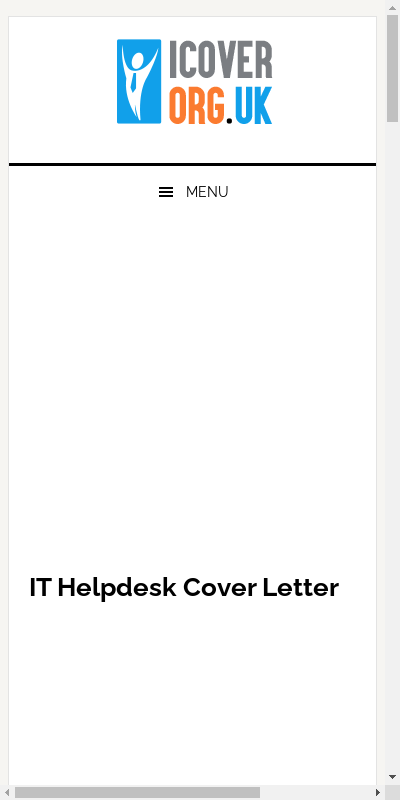 It Help Desk Cover Letter 20 Guides Examples