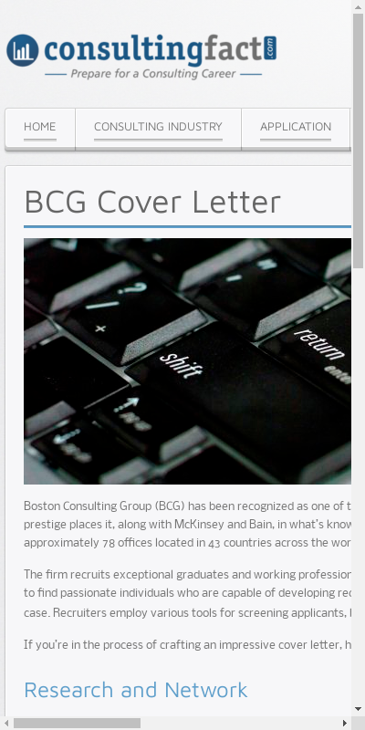 Bcg Cover Letter Sample 20 Guides Examples