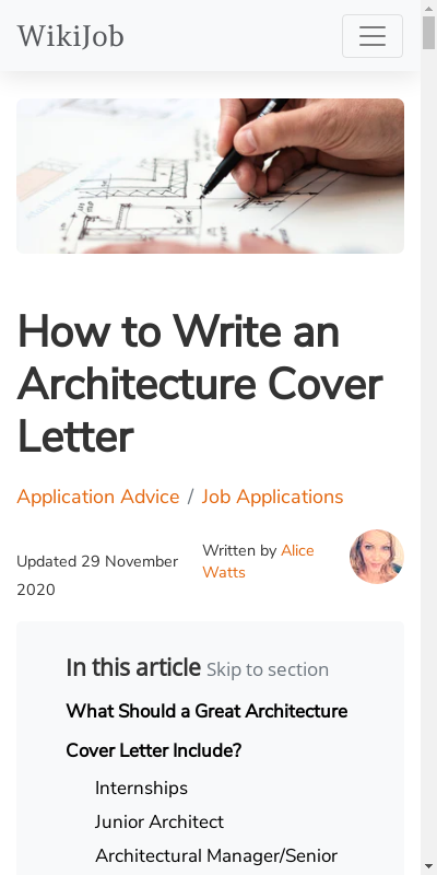 Architectural Cover Letter 20 Guides Examples