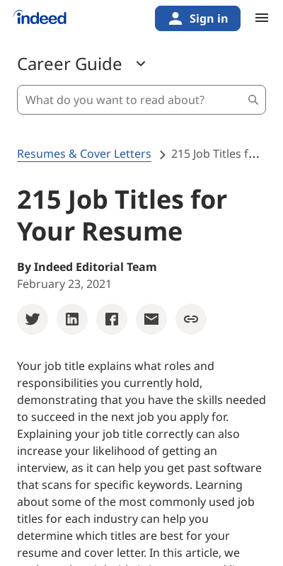 Job Title Meaning On Application 20 Guides Examples