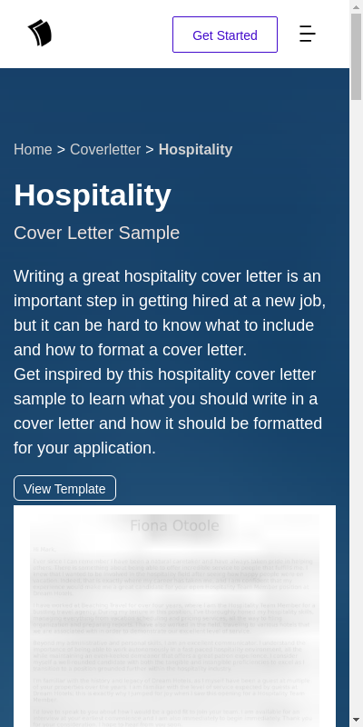 Cover Letter For Hospitality Job 20 Guides Examples