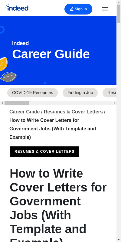 Government Cover Letter Sample 20 Guides Examples