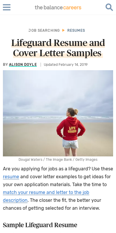 Cover Letter For Lifeguard 20 Guides Examples