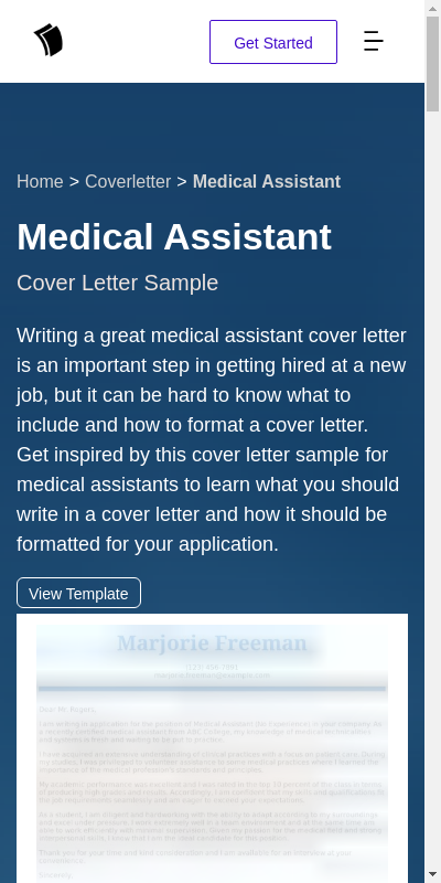Entry Level Medical Assistant Cover Letter 20 Guides Examples