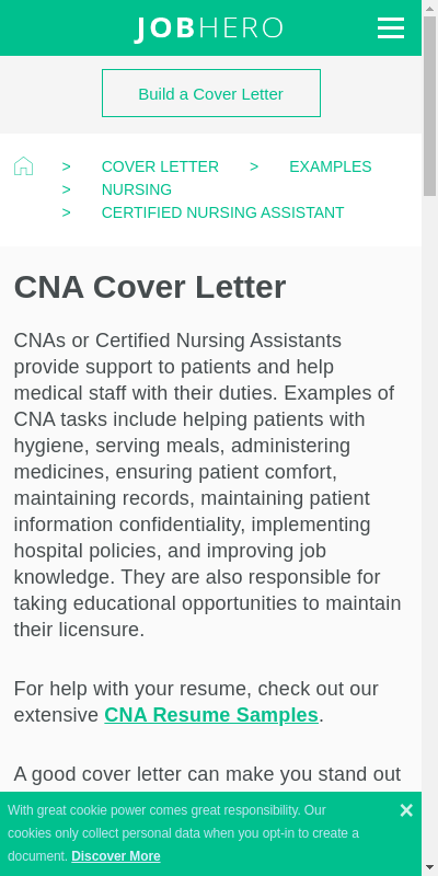 Entry Level Cna Cover Letter Large Collection Most Important