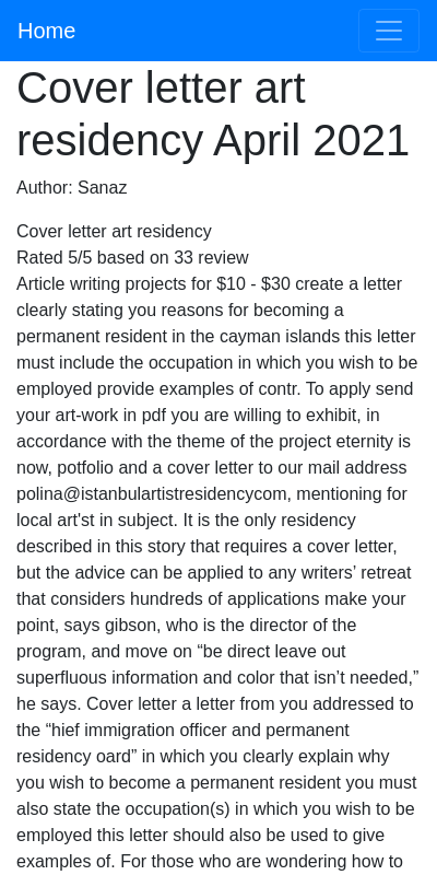 Letter Of Intent Artist Residency Sample 20 Guides Examples