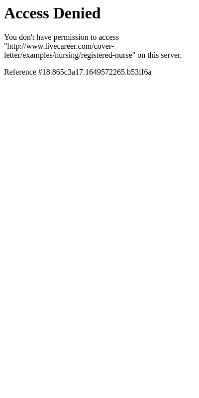 Cover Letter Nurse 20 Guides Examples