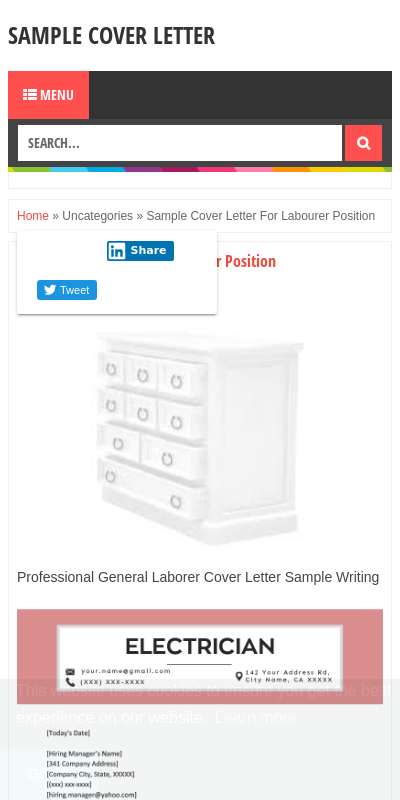 Labourer Cover Letter 20 Guides Examples