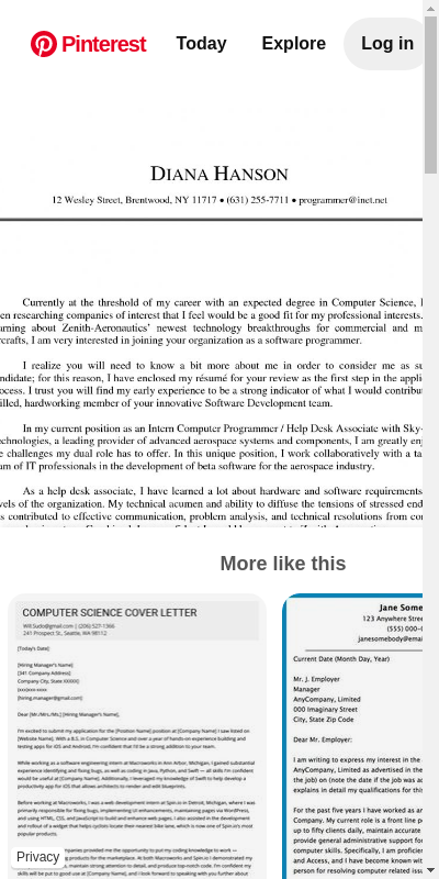 Computer Science Cover Letters 20 Guides Examples