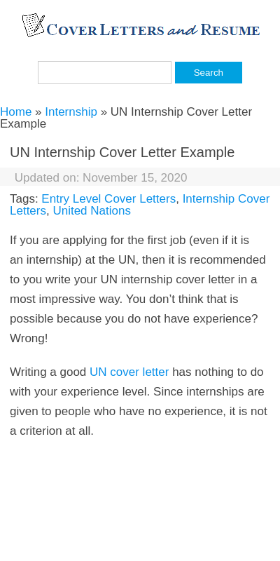 Cover Letter For Un Internship 20 Guides Examples