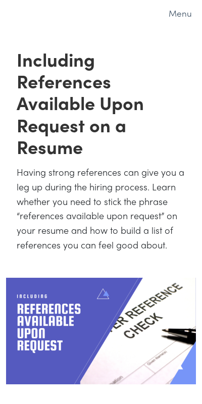 References Upon Request Cover Letter 20 Guides Examples