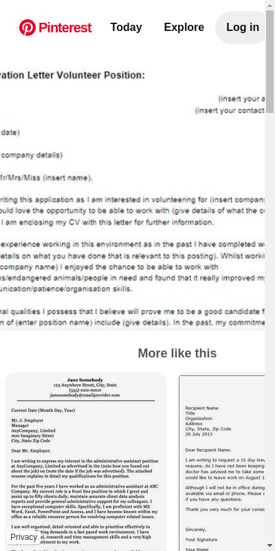 Cover Letter For Volunteer Work 20 Guides Examples