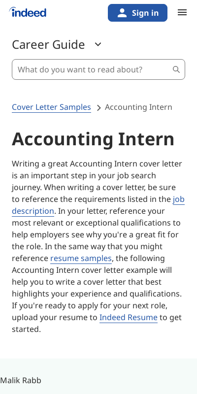 Sample Cover Letter For Accounting Internship With No Experience 20 Guides Examples