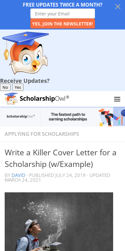Scholarship Cover Letter Samples 20 Guides Examples