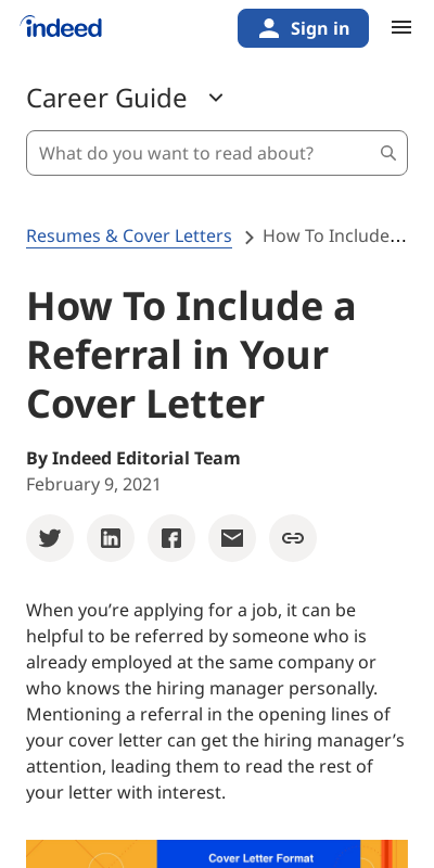 How To Include A Reference In A Cover Letter 20 Guides Examples
