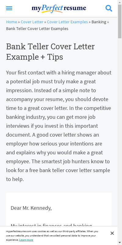 Sample Cover Letter For Bank Job 20 Guides Examples