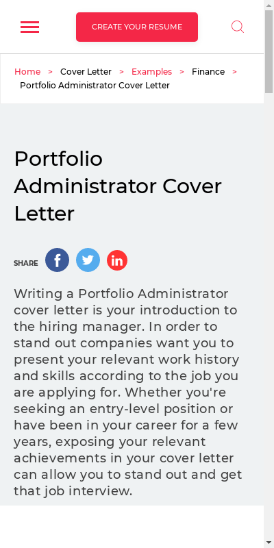 Portfolio Cover Letters 20 Guides Examples