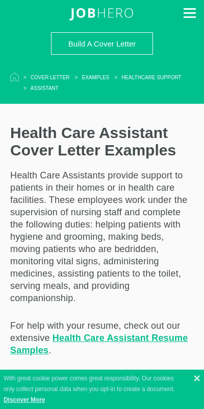 Cover Letter Healthcare 20 Guides Examples