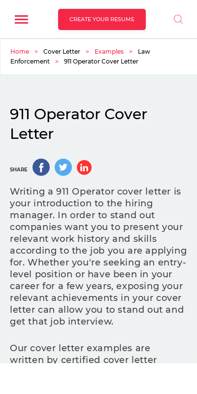 Police Dispatcher Cover Letter 20 Guides Examples