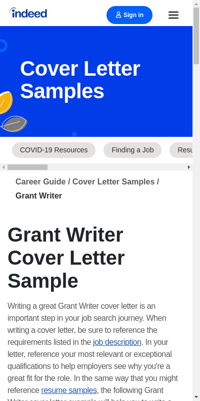 Sample Cover Letter For Grant Proposal 20 Guides Examples