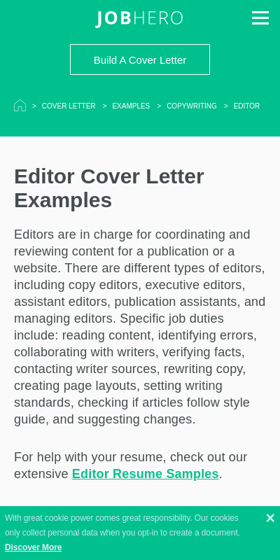 45+ Great Cover Letter For Editors  That Wow