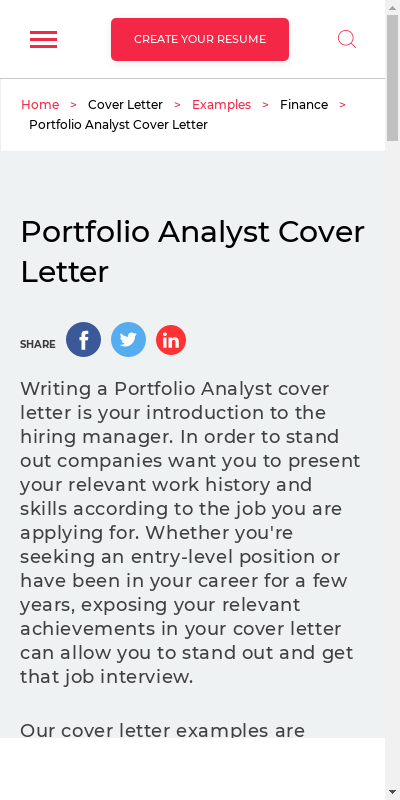 Cover Letter For A Portfolio 20 Guides Examples