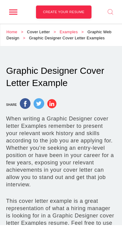 Cover Letter For Graphic Designer Fresh Graduate 20 Guides Examples