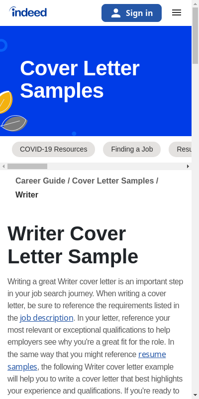 Creative Writer Cover Letter 20 Guides Examples