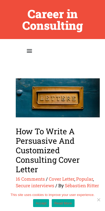 Consulting Cover Letter Bcg 20 Guides Examples