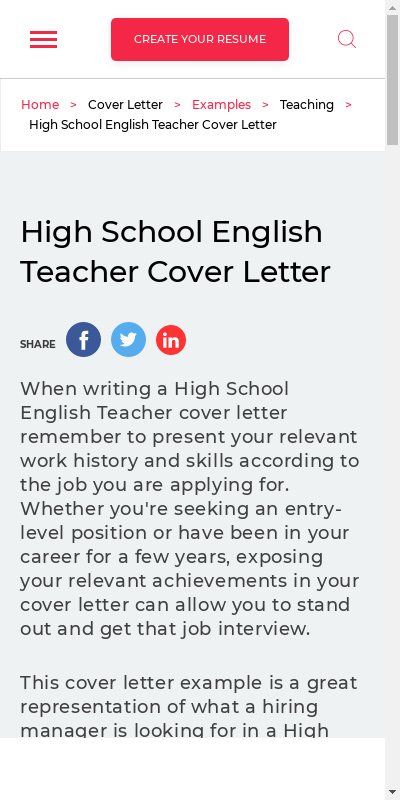 Cover Letter For English Teaching Position 20 Guides Examples