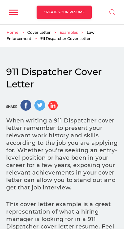 Sample Cover Letter For Dispatcher Position 20 Guides Examples