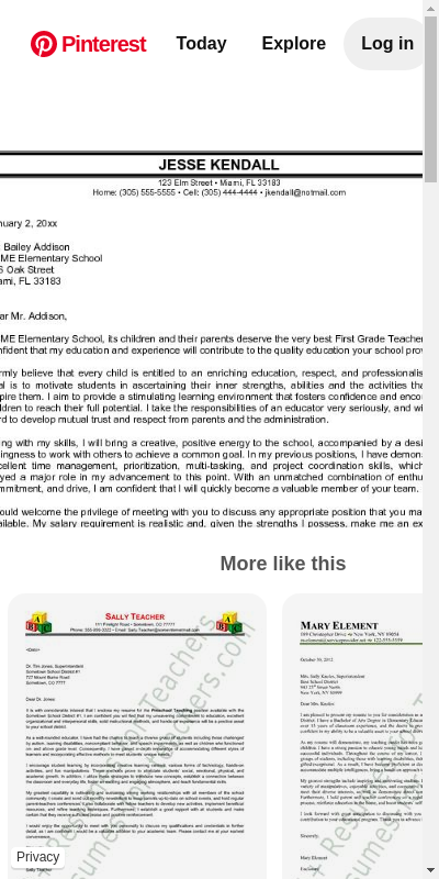 Sample Cover Letters For Elementary Teachers 20 Guides Examples