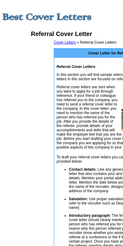 Cover Letter Referred By Friend 20 Guides Examples