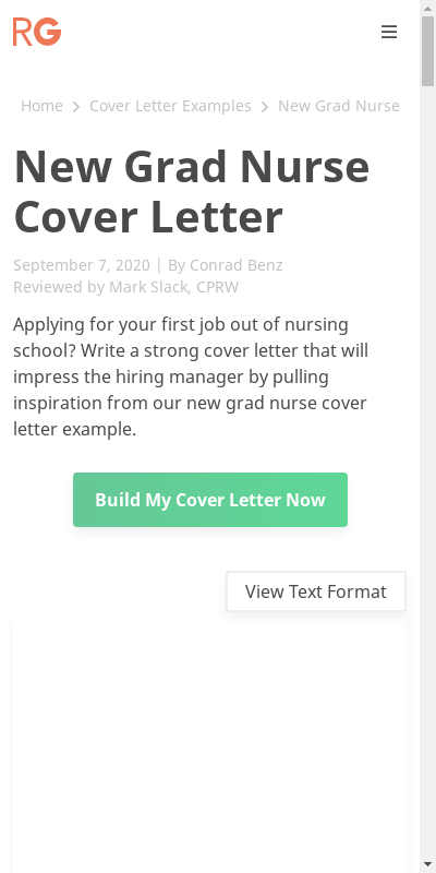 Sample Cover Letter For New Graduate Nurse 20 Guides Examples