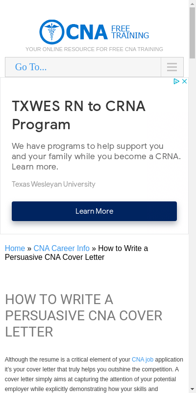 Entry Level Cna Cover Letter 20 Guides Examples