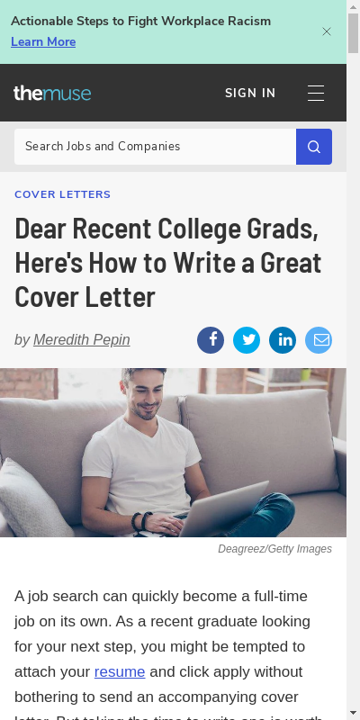 Sample Cover Letter For Recent College Graduate 20 Guides Examples