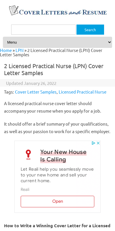 Licensed Practical Nurse Cover Letter 20 Guides Examples