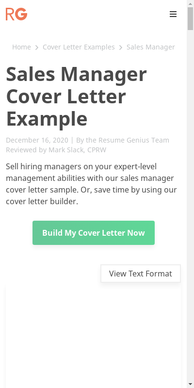 Obtain Wonderful Cover Letter Sales Sample  You'll Love