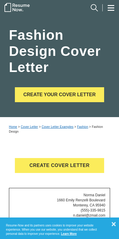 Fashion Internship Cover Letter 20 Guides Examples