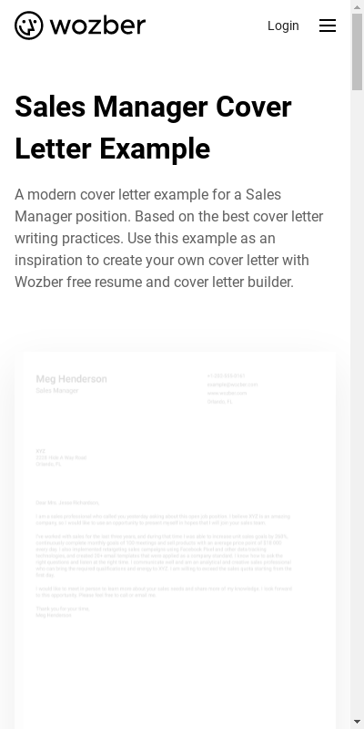 Sample Cover Letters For Sales Manager 20 Guides Examples