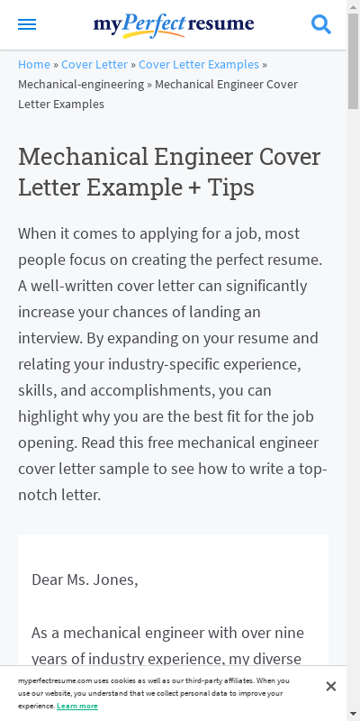 Sample Cover Letter For Mechanical Engineer 20 Guides Examples