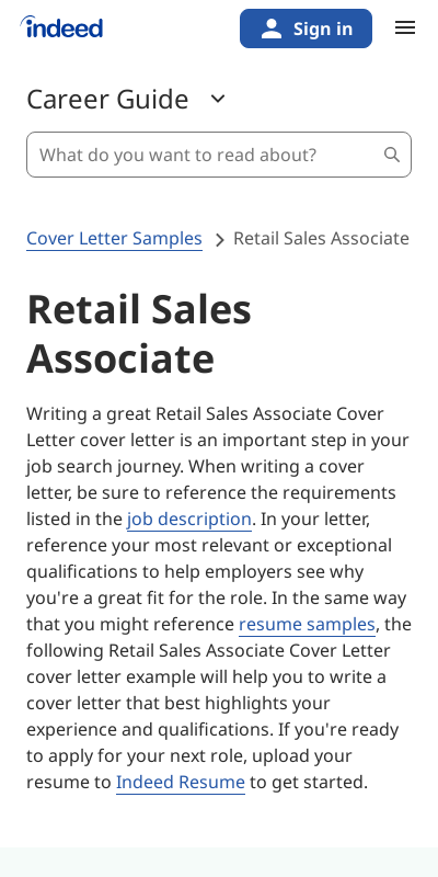 Retail Sales Cover Letter Example 20 Guides Examples
