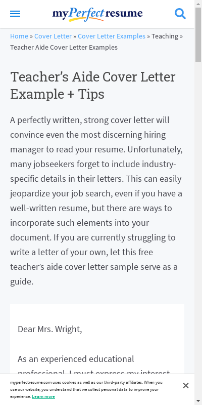 Letter Of Interest For Teachers Aide 20 Guides Examples
