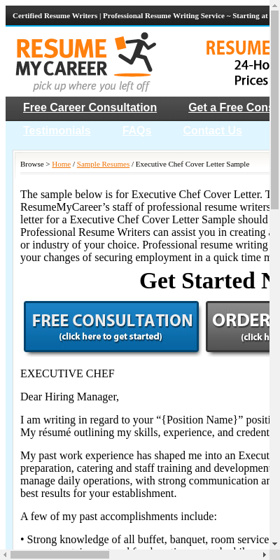 Cover Letter For Chef 20 Guides Examples