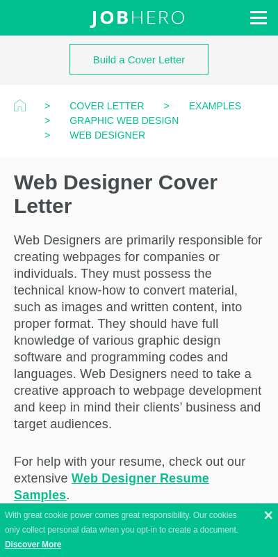 Cover Letter Web Designer Format Top Pictures Latest News