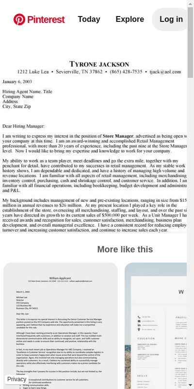 Get Cool Example Cover Letter For Retail  You Must Try