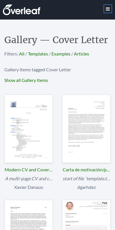 Cover Letter Latex Template 20 Guides Examples
