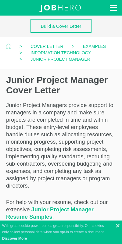 Project Management Cover Letter No Experience 20 Guides Examples